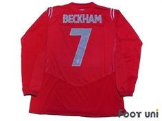 """""""England 2004 Away #7 Beckham""""  Classic , old clothes , it is the net shop of vintage football shirts(Soccer Jerseys). Assortment of difficult rare item available is also abundant."""