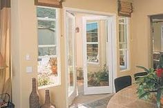wooden patio doors with side window - Google Search