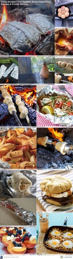 EASY Camping Recipes-- because one of these days I won't be pregnant or have a newborn and I'll be all out of excuses to not go camping.