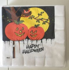 American Greetings Owl Pumpkins Halloween Luncheon Cocktail Paper Napkins 20