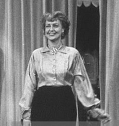 Actress Jeanette MacDonald during rehearsal for appearance on Ed Sullivan's television program Toast of the Town (1952)