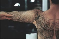 This is too awesome not to repin. Angel wings tattoo.