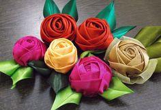 D.I.Y. Handmade Satin Rose - Tutorial