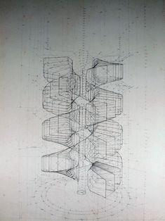 Venezuelan artist Rafael Araujo | Calculation of a Double Helix