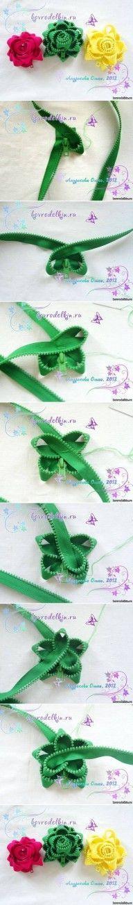 DIY Simple Zipper Flower Brooch DIY Projects