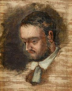 Émile Zola (2 april 1840 - 29 september 1902) Portret door  Paul Cezanne, 1864