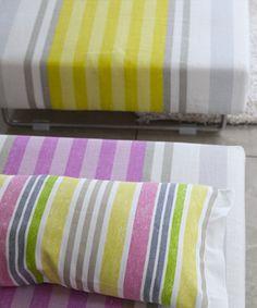 Designers Guild stripe fabric Waterbury