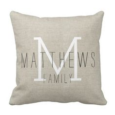 Purchase Rustic Linen Family Monogram Pillowcase Cover inch from Wallis Flora on OpenSky. Share and compare all Home. Monogram Pillows, Rustic Pillows, Personalized Pillows, Monogram Gifts, Beige Couch, Blue Pillows, Diy Pillows, Throw Pillows, Pillow Ideas