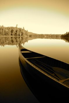 Canoe at Rollins Pond Campground