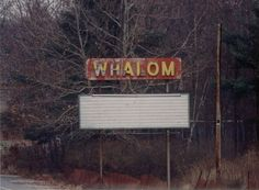 There's not much left of Whalom nowadays, with the two drive-ins closed or closing and park gone. Photo by James R. Drive Inn Movies, Drive In Movie Theater, Theatres, Good Old, New England, Abandoned, The Past, Neon Signs, Park