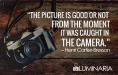 #Fotografía #Henri #CartierBresson #Luminaria #Quotes