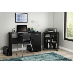 South Shore Axess Printer Stand, Pure Black 7270691 - The Home Depot