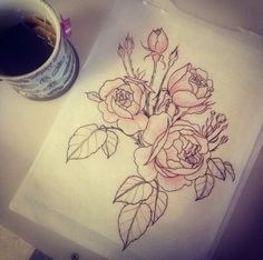 Roses design for tattoo