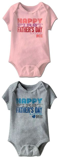 New Dad Gift - Happy First Father's Day Onesie