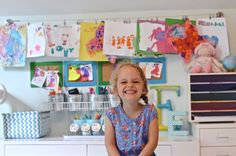 A big reveal of Eleanor's new kids art center: a new desk, Ikea storage, and a fun gallery wall! A new open area for kids to create to their hearts content!