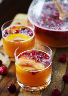 Raspberry-Peach-Prosecco-Punch