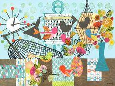 Oopsy Daisy Canvas Wall Art Modern Birdies by Winborg Sisters, 40 by 30-Inch Oopsy Daisy http://www.amazon.com/dp/B00KRIYIRQ/ref=cm_sw_r_pi_dp_StRdub1WBXWN5
