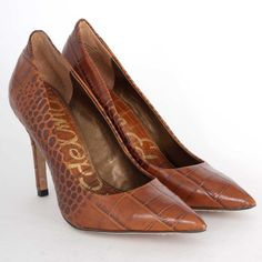 Sam Edelman Portney Heel in Croc. Just enough interest added to classic. #shoes