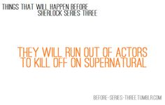 things that will happen before sherlock series thr