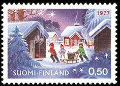 Joulupostimerkki 1977 Christmas stamp 1977 Finland