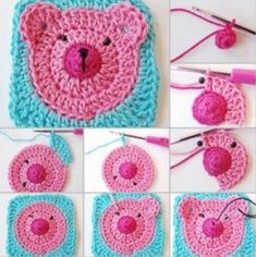 Teddy Bear Crochet Granny Squares - find free patterns in our post