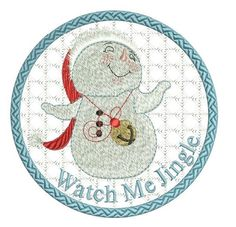 Watch Me Jingle Coaster Embroidery Art, Machine Embroidery, Embroidery Designs, Pixie, Coasters, Cross Stitch, Joy, Seasons, How To Make
