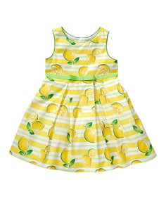 Take a look at this Youngland Yellow Lemon A-Line Dress - Infant, Toddler & Girls today!
