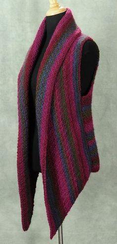 Crochet Vests The Prudence Crowley Vest Knitting pattern by Robin Hunter Diy Tricot Crochet, Mode Crochet, Crochet Shawl, Crochet Vests, Crochet Stitch, Weaving Patterns, Knitting Patterns, Crochet Patterns, Love Knitting