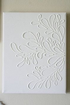 Elmer's glue on canvas, then paint over it in any color you want!
