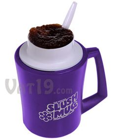 The Original Slush Mug  Turns your favorite beverage into a Slushee in minutes.  Num Num!