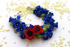 Blue Bracelet Handmade Bracelet Charm by insoujewelry on Etsy #danishandmadewedding