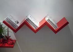 http://www.ireado.com/unique-design-zig-zag-shelf-by-henrique-steyer/ Unique Design, ZIG ZAG Shelf By Henrique STEYER : Bookshelf Decorating Interior Design Zig Zag Shelf