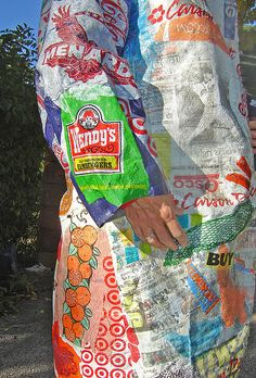 """21st Century Fusion"" fused plastic bags coat ~ photo 7 by Urban Woodswalker, via Flickr"