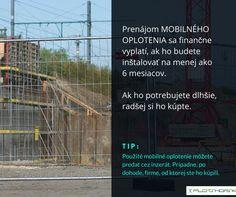 Prenájom mobilného plota sa finančne vyplatí, ak ho budete používať dlhšie ako 6 mesiacov. Ak ho potrebujete dlhšie, radšej si ho kúpte.