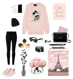 """Untitled #130"" by hyuna-yoona ❤ liked on Polyvore featuring Max Studio, Markus Lupfer, Topshop, Gooey, Accessorize, Merkury, Ray-Ban, Kate Spade, Rifle Paper Co and Fuji"
