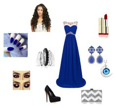 """""""prom prom prom"""" by jalayawhite ❤ liked on Polyvore featuring Carvela Kurt Geiger, Edie Parker, Avenue, women's clothing, women's fashion, women, female, woman, misses and juniors"""
