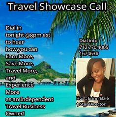 Looking to do something full time, Part time or as a hobby; making additional income as you see the world? Call in @8pm EST and hear how you can change your life! Inbox me, Call 302-827-3627 or email: Endorarayescapes@gmail.com #Travelmore #Savemore #Earnmore #Experiencemore