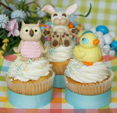 spring time / Easter fondant decorations by Mili's Sweets