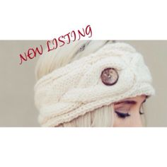 BUTTONED UP FLEECE KNITTED HEADBAND The softest, coziest headband in a chunky knit lined with fleece inside and oversized coconut shell button. Elegant handcrafted braided ear warmer that will be treasured for years to come. Three Bird Nest Accessories Hair Accessories