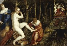 Susanna at her Bath - Jacopo Robusti, called Tintoretto. 16th c.