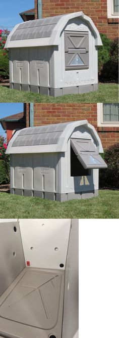 Dog Houses 108884: Insulated Dog Palace Asl Solutions Gray Color Play Pen Pet House Outdoor Home -> BUY IT NOW ONLY: $209.98 on eBay!