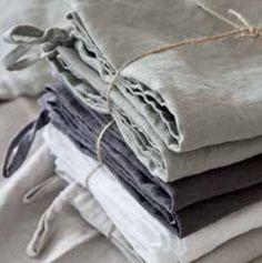 Kitchen towel dusty stonewashed linen