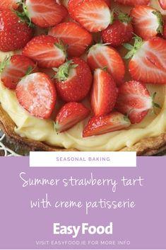 This stunning fruit tart is filled with the tastes of summer. #bakingwithfruit #strawberries #baking #entertaining
