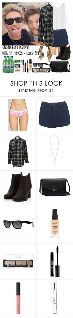 """Glastonbury Festival with my princes - Louis' girl"" by fxrever-isnt-for-everyone ❤ liked on Polyvore featuring Forever 21, Topshop, Wrangler, Ray-Ban, Smashbox, Lord & Berry, NARS Cosmetics and philosophy"