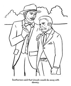 America Civil War Coloring Story Page