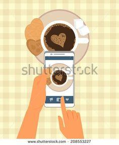 Selfie Coffee Fotos, imagens e fotografias Stock | Shutterstock