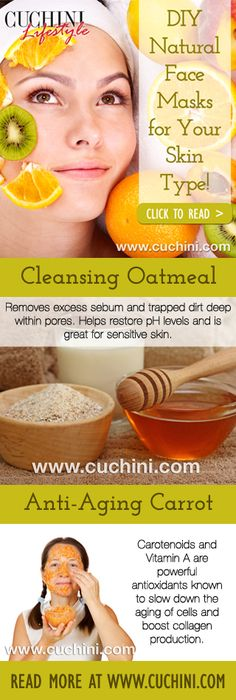 DIY Natural Face Masks for Your Skin Type #Beauty #SkinCare #DIY #HomeRemedy #Natural http://wp.me/p4acWu-9z