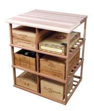 Buy the Sonoma Designer Rack - Double Deep Wood Case w/Table Top (Redwood Natural) at Wine Enthusiast – we are your ultimate destination for wine storage, wine accessories, gifts and more! Wine Cellar Racks, Wine Bottle Rack, Bottle Wall, Wine Cellars, Wine Bottles, Table Storage, Wine Storage, Secret Storage, Wine Cellar Innovations