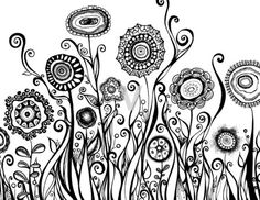 Bring out the artist within using the Zentangle Method! Join artist Lisa Bennett and learn the basic Zentangle process. You will create your own Zentangle Flower Garden using a combination of dots, lines, and patterns. Doodle Art, Tangle Doodle, Tangle Art, Zen Doodle, Zentangle Drawings, Doodles Zentangles, Zentangle Patterns, Doodle Drawings, Doodle Inspiration