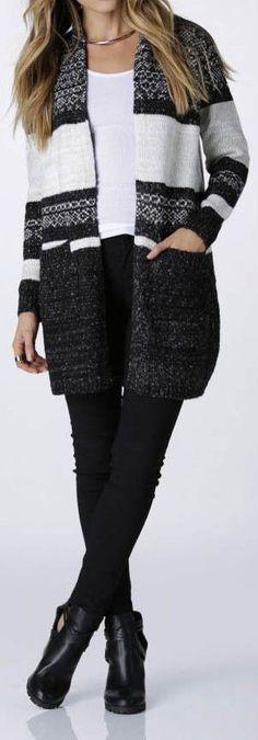 Black & White ♡ #fall #fashion